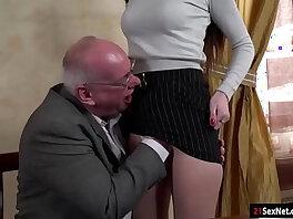 19 years old-grandpa-licking-mom